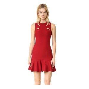 Cinq A Sept Scorpio Crimson Dress